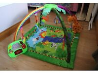 Baby Rainforest Gym playmat with music