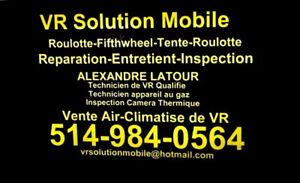 REPARATION,INSPECTION,ENTRETIEN ROULOTTE,TENTE ROULOTTE,5 WHEEL
