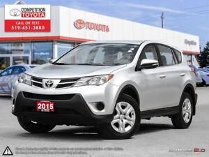 2015 Toyota RAV4 LE One Owner, No Accidents, Toyota Serviced