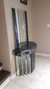 Mirror and Marble foyer stand
