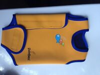 Swim best baby wetsuit wrap 6-12 months orange