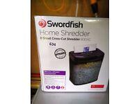 Brand new swordfish paper shredder