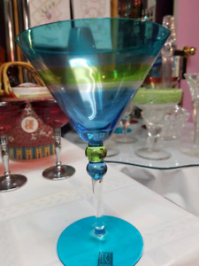 Vintage Hand Painted Roscher & Co Martini Glasses