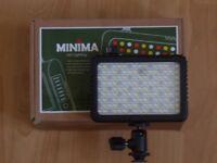 Camera-mounted LED colour switchable light