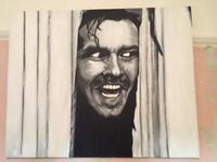 The Shining hand painted canvas