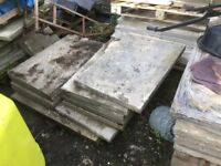 Concrete flags 3ftx2ft approximately 100