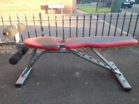 sit up and weight bench