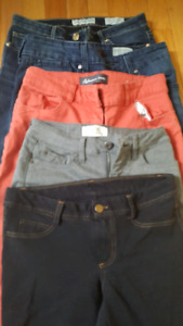 5 pairs of pants size small ladies
