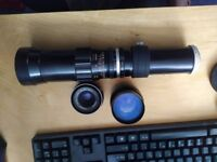 3 M42 lenses - Carl Zeiss 50mm, Hoya 135mm, Hanimex 400mm EXCELLENT - good for micro four thirds 4/3