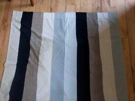 2x Ikea Wilj Velour Striped Long Curtains - 290 cm drop, 140 cm width (per curtain)