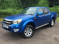 2010 Ford Ranger 2.5 TDCi Thunder Double Cab Pickup 4x4 4dr PICKUP in BLUE