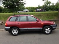 HYN SANTE FE 4X4 04 PLATE ONE OWNER 60,000 MILES FROM NEW ONE YEAR MOT SERVICE HISTORY