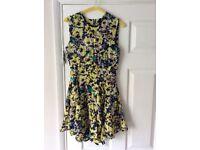 H&M floral pattern dress. Size 10