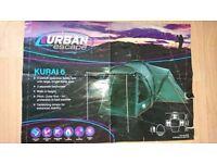 Excellent condition Urban Escape Kurai 6 man tent