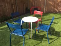 Fermob Luxembourg Steel Outdoor Chairs x4 RRP £700!