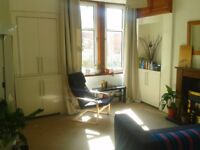 Good sized fully furnished double room to rent in 2 bed 1st floor flat in Battlefield, Southside