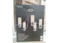 next twist frosted ceiling light