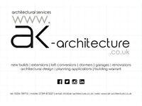 Architectural Design Services | Extensions | Loft Conversion | Dormers | Garage | Planning | Warrant