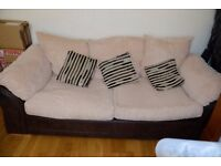 3 seater beige sofa very good condition