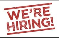 Evenings or afternoon positions available