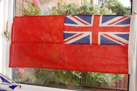 """Red Ensign, 36"""" x 17"""", Sewn Panels in Three Sections, NOT CHEAPLY PRINTED in One."""