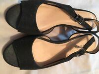 Ladies Black glitter shoes size 6