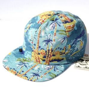 NWT Obey 5-Panel Strap back Hat - Tropical Print