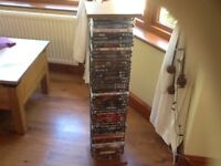 TWO DVD / BLU RAY STANDS, EACH HOLDS 50 DVDs
