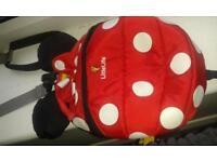 little life backpack ladybird