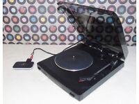 Mini Bluetooth Turntable - KENWOOD P-110 Semi-Automatic Belt-Drive Mini Turntable.