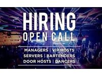 Vip hostess / Bartenders / Dancers / Door hosts / Assistance night club manager