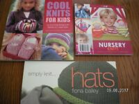 3 Knitting Books - Cool Knits for Kids, Nursery Knits, Simply Knit Hats