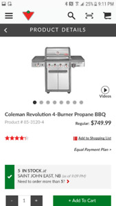 Stainless steel Coleman BBQ