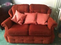 Sofa. Two seater and matching one seat armchair