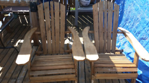 Foldable Adirondack chairs and others