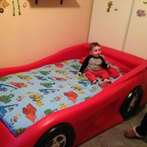 Twin Red race car bed