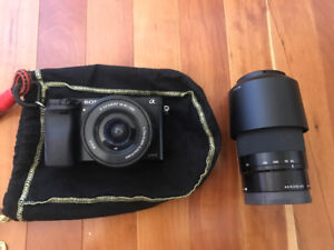 Sony A6000 camera, with Sony E 55-210mm lens