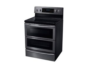 New Samsung Flex Dual Convection Stove Black Stainless Steel