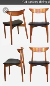 4 Teak dining chairs ( Harry Ostergaard for Randers )