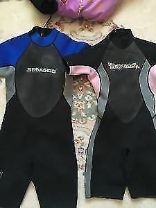 Two Diving wet suits