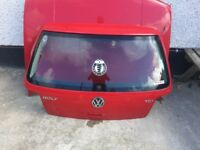 Mk4 Golf boot in red