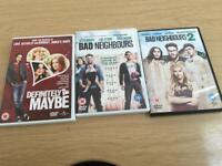 small bundle of DVD bad neighbours 1 & 2 and Definitely Maybe