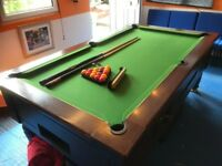 7ft x 4ft slate pool table
