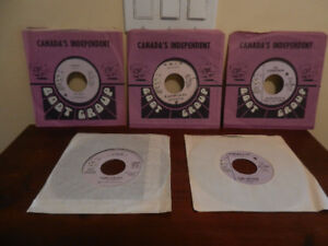 "Vinyl Records/45 RPM 7"" Singles rare Boot Records With Sleeves"