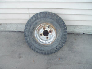 Trailer tire and rim
