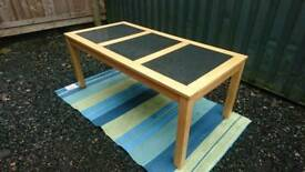 Dining table solid wood and granite