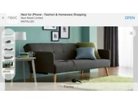 Next Finney 3 seater sofa bed.