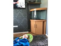 190 litre juwel fish tank and cupboard for sale