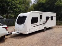2012 Swift Challenger 580 4 berth caravan FIXED ISLAND BED, MOTOR MOVER, AWNING