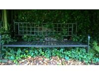 Home clearance-Ornate Metal Garden Bench in Black for sale